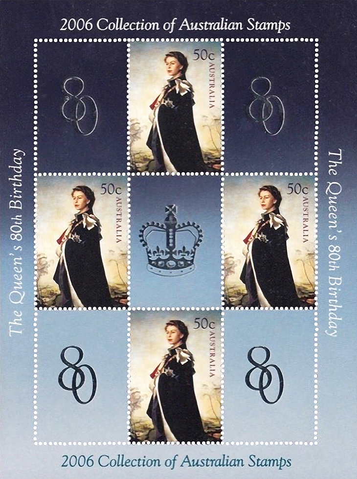 wayne-chen-promote-stamp-collecting-australia-queen-elizabeth-ii-souvenir-sheet-2006-yearbook