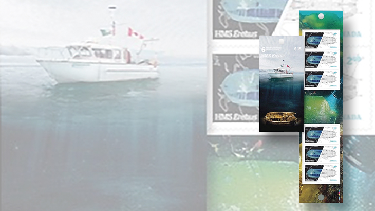 wayne-chen-promote-stamp-collecting-canada-franklin-expedition-booklet
