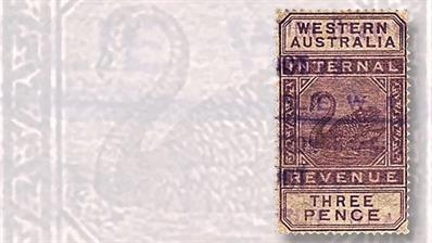 western-australia-3-penny-internal-revenue-stamp