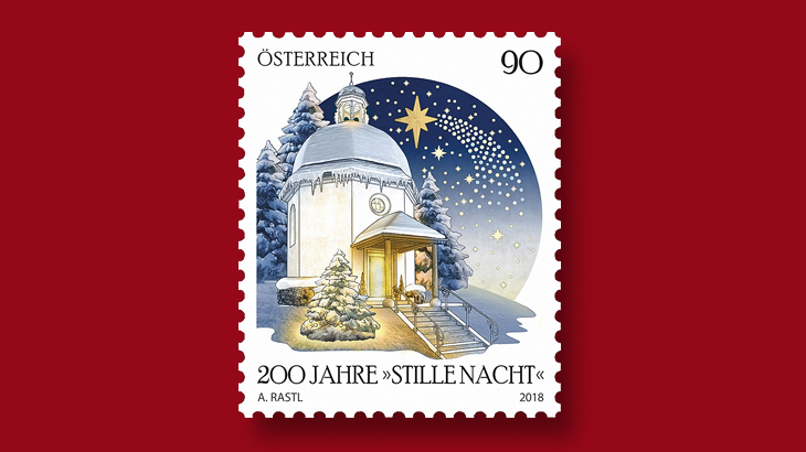 Austrian Stamp Honors First Silent Night Performance 200 Years Ago
