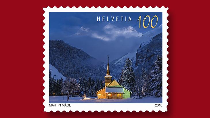 Christmas stamps Switzerland