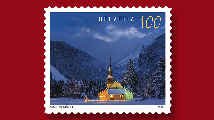 Christmas stamps Switzerland