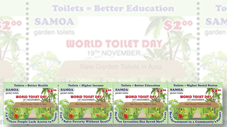 world-toilet-day-samoa-stamps-four