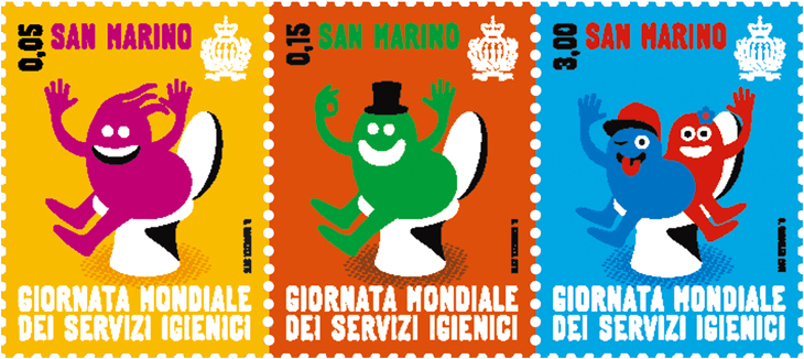 world-toilet-day-san-marino-stamps