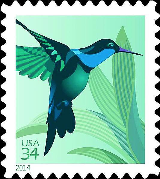hummingbird flutters onto new u s postcard stamps feb 7