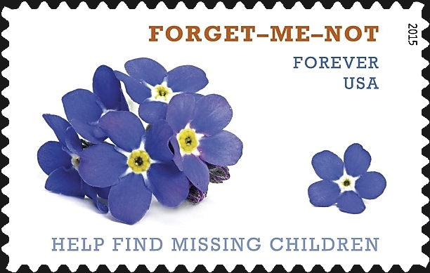 Forget-me-not chosen as the theme for missing children stamp, envelope