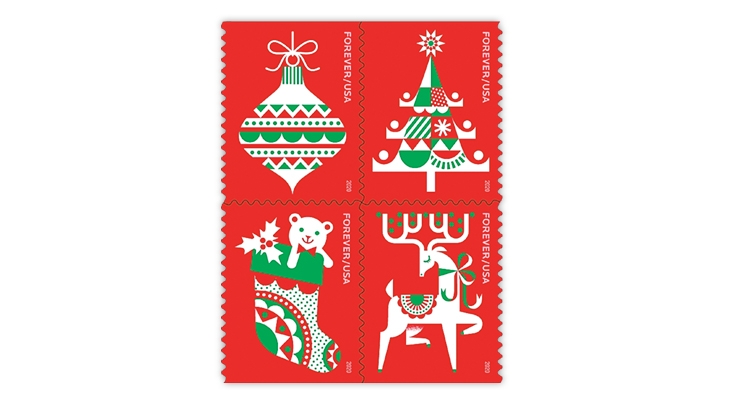 Issue dates revealed for 2020 U.S. winter and holiday stamps
