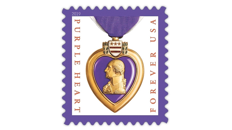 New U S  Purple Heart stamp will be issued Oct  4 at Indypex